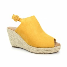 Lunar Vital Yellow Wedge Espadrille