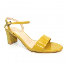 Lunar Temptation Yellow Patent Heeled Sandal