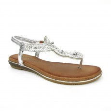 Lunar Silvia Silver Summer Toe Post