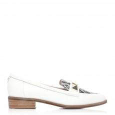 Moda in Pelle Faryia Pointed Toe Shoe White