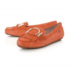 Moda in Pelle Ettie Oval And Fringed Trim Shoe Orange