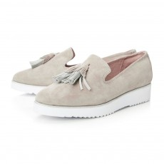 Moda in Pelle Elzora Slab Sole Tassle Shoe Taupe