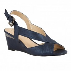 Lotus Dominica Wedge Sandal Navy