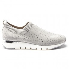 Caprice Light Grey Knit Sneaker