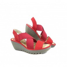Fly London YAJI Cupido- Lipstick Red Sandal