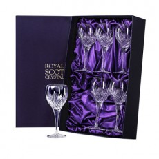 Royal Scot Highland Boxed Set 6 Large Wine Glasses New Shape