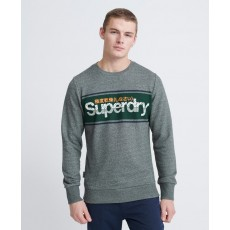Superdry Core Logo Stripe Crew Ub