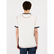 Pretty Green Contrast Panel Chest Badge T-Shirt
