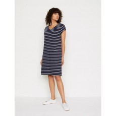 White Stuff Day To Day Stripe Jersey Dress Dusty Navy