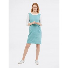 White Stuff Ada Linen Pinny Dress Pot Blue