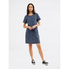 White Stuff Bea Linen Dress Ink Navy