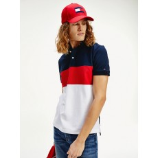 Tommy Hilfiger Colorblock Regular Polo Desert Sky/Red Multi