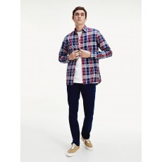 Tommy Hilfiger Midscale Check Shirt Navy/Red/Multi