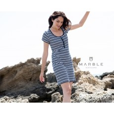 Marble Dress Navy