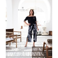 Marble Trousers White