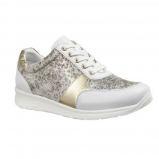 Lotus Florence Shoe White Leather/Leopard