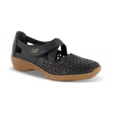 Rieker Black Cut out Shoe