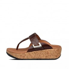 FitFlop Remi Adjustable Toe-Thongs Chocolate Brown