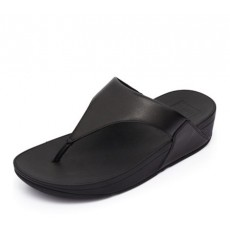 FitFlop Lulu Leather Toepost Black