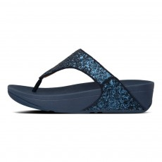 FitFlop Lulu Glitter Toe-Thongs Midnight Navy