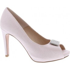 Capollini Sandy Peep Toe Shoe Ice Pink