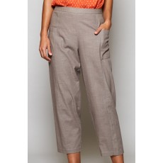 Nomads Relaxed Crop Trouser Stone