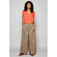 Nomads Stripe Wide Leg Trouser Chalk