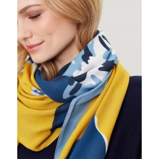 Joules Rowen Square Scarf Gold Floral