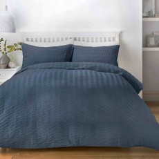 Seersucker Bedding Denim