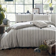 Delta Stripe Bedding Natural
