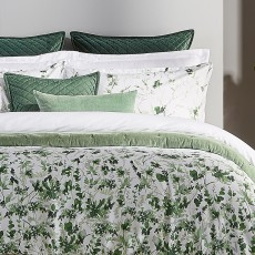Leaf Fronds Bedding Green