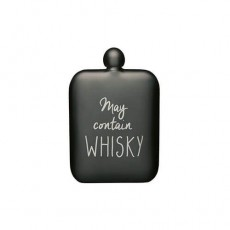 Barcraft Hip Flask Grey S/S May Contain Whisky