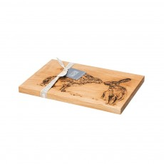 Scottish Made Kissing Hares Oak Serving Board 30cm