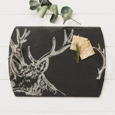 Just Slate Medium Stag Serving Tray
