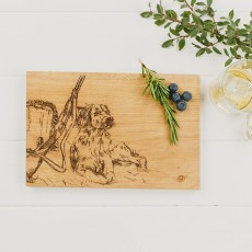 Scottish Made Gun Dog Oak Serving Board