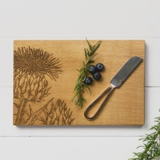 Scottish Made Thistle Cheeseboard & Knife Set