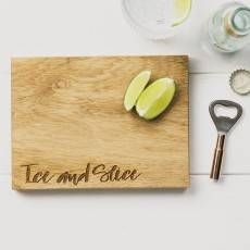 Scottish Made Ice & Slice Oak Cutting Board & Opener Set