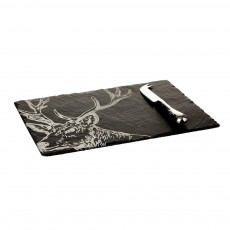 Just Slate Stag Cheese Board & Knife Gift Set