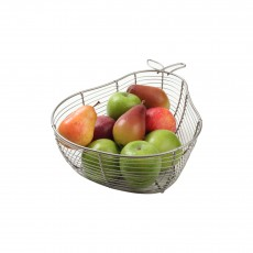 Tutti Frutti Pear Basket Satin Grey Wire