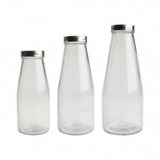 Large Glass Bottle With Stainless Steel Lid