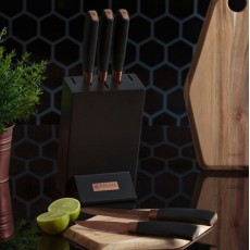Viners Chocolate 5Pc Knife Block Set