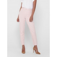Only Emily Life HW Raw Trouser Pink Tint