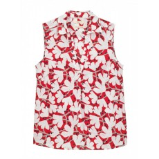 WhiteStuff Cherry Tree Vest Tom Red Print