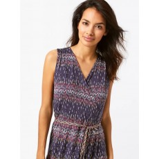 WhiteStuff Avery Wrap Dress Cape Blue