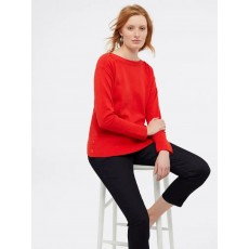 White Stuff Hampton Cotton Blend Jumper Red Red