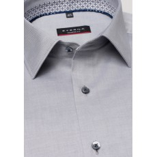 Eterna Modern Fit Shirt Steel Grey with Geo Trim