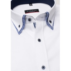 Eterna Modern Fit Double Collar Shirt White