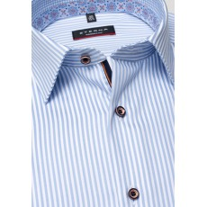 Eterna Modern Fit Shirt Light Blue Stripe