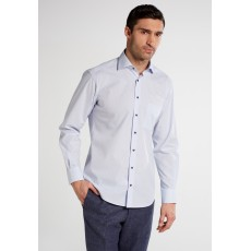 Eterna Modern Fit Shirt Light Blue Check