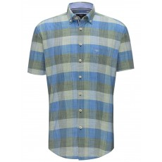 Fynch-Hatton Structure Check SS Shirt
